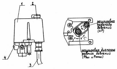 Настройка реле давления MDR 3/11 (фирма Condor, Германия)